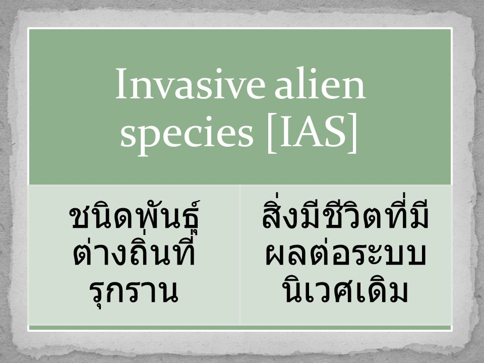 Invasive alien species [IAS]